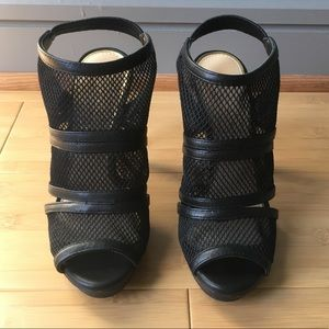 Jessica Simpson Mesh Caged Heels - 6 {brand new}
